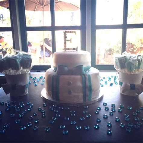 bow tie baby shower theme baby shower cake and chocolate covered rice krispies bow