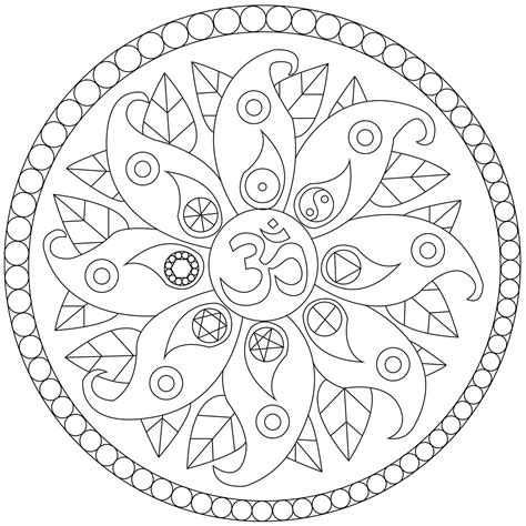 simple mandala  symbols easy mandalas  kids