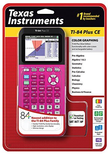 texas instruments ti   ce pink graphing calculator