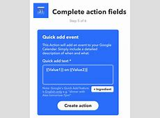 How to add events to Google calendar with IFTTT