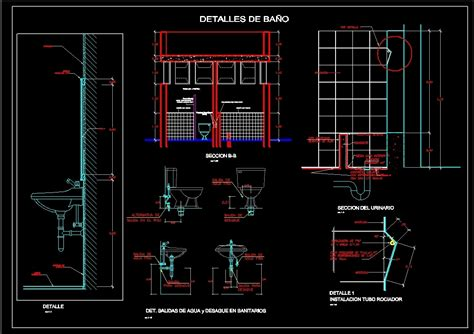 bathrooms details dwg section for autocad designs cad