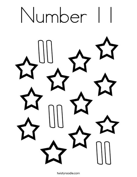 number 11 coloring page getcoloringpages