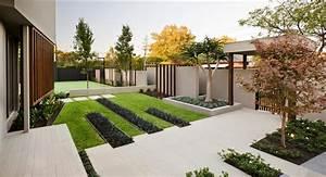 modern garden design ideas With nice amenagement de jardin contemporain 10 creer un jardin avec des cactus et des palmiers