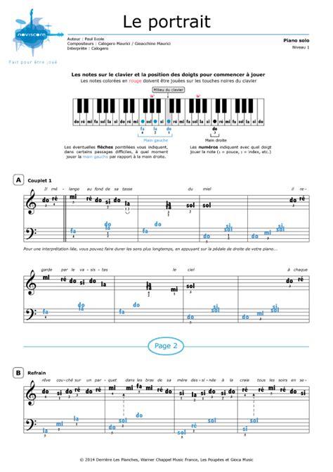 si鑒e pour piano partition piano calogero gratuite