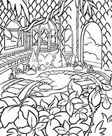 Gazebo Template Coloring Pages Neopets Faerieland Colour sketch template