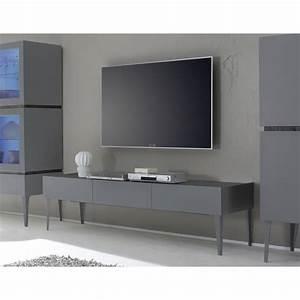 Meuble Tele Gris : meuble tele design gris 4 id es de d coration int rieure french decor ~ Teatrodelosmanantiales.com Idées de Décoration