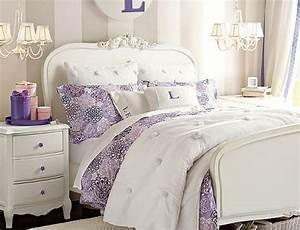 Luxury Bedroom Ideas for Teenage Girl Using Purple Accent ...