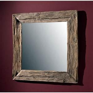 Spiegel Mit Ablage Holz : natur unikat wandspiegel massiv teak holz spiegel altholz edel 100cm antik style ebay ~ Bigdaddyawards.com Haus und Dekorationen