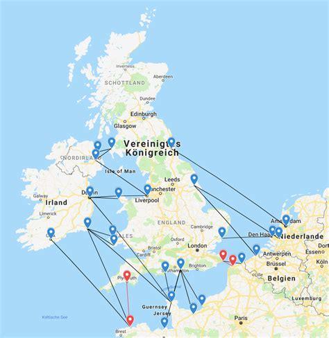 Fährverbindungen Nach England Karte