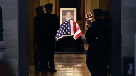 Ginsburg breaks one final barrier as first woman to lie in ...