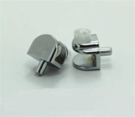 pcslot glass shelf support clamps studs pin mm nickel plate clamp clips clip  brackets