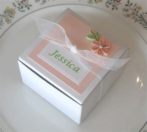 paper quilled place card  favor box
