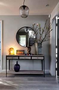 les 25 meilleures idees de la categorie console d entree With exceptional cuisine mur rouge meuble blanc 15 deco salon miroir