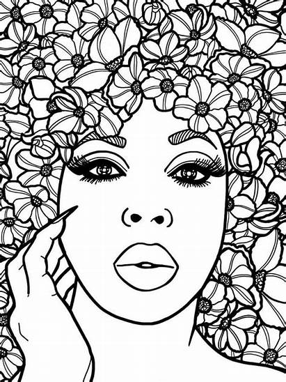 Coloring Adult Pages African Printable Sheets Pdf