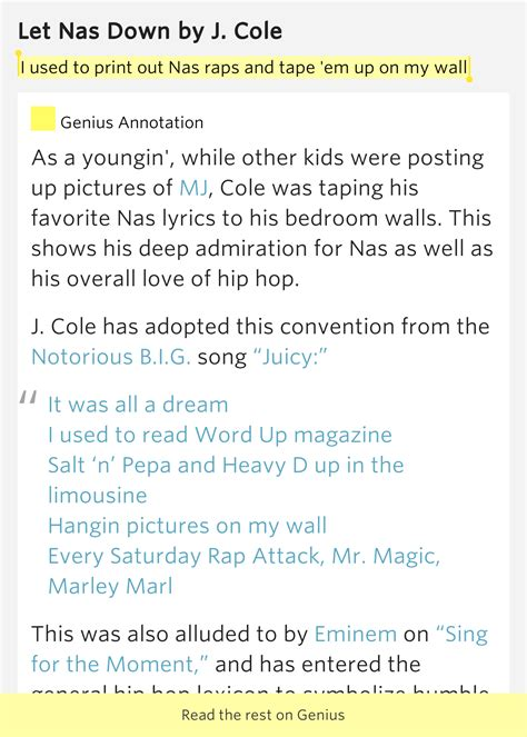 Banks Bedroom Wall Lyrics Meaning by I Used To Print Out Nas Raps And Em Up On My Let