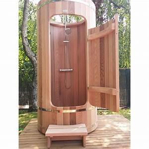 douche exterieure en bois With colonne de bois exterieur