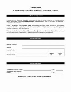 5 direct deposit form templates excel xlts for Direct deposit forms for employees template