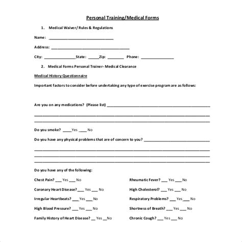 free 15 sle medical waiver forms pdf