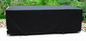 Housse Pour Table De Jardin : housse de protection pour table 210x105 cm noire tous les produits salon jardin prixing ~ Teatrodelosmanantiales.com Idées de Décoration