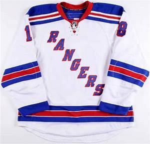 2009 10 marc staal new york rangers game worn jersey With new york rangers jersey letters