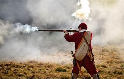 War Musket Musketeer Soldier Basingstoke Hampshire Fire