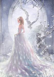 Dress white long hair beautiful girl anime wallpaper ...