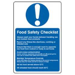 Double Sided Sink by Food Safety Checklist Sign Tcob Ltd