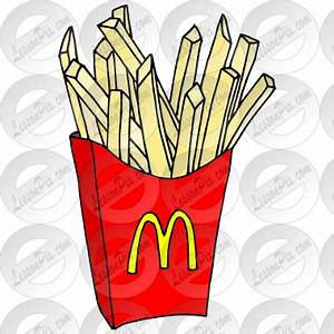 McDonald's clipart french fry - Pencil and in color ...