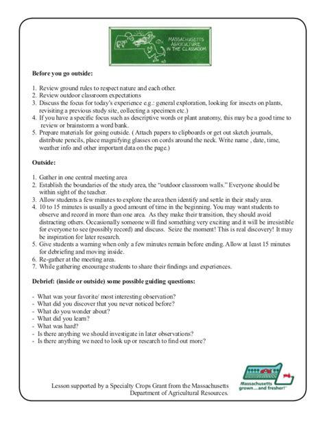 grade 1 school garden lesson plan leaf lesson leaf