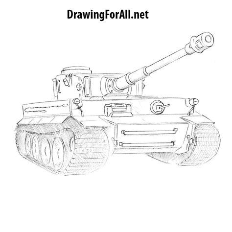 draw  tiger tank drawingforallnet