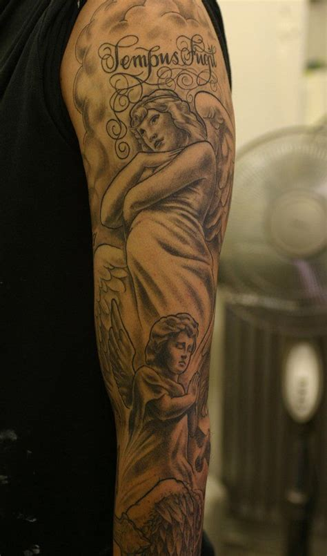 angel sleeve tattoo designs ideas  meaning tattoos
