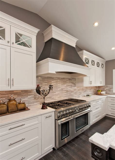 Dark Floor Kitchens With White Cabinets Inviting Home Design