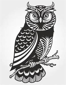 Owl paper cut vector pattern vector free vector for What kind of paint to use on kitchen cabinets for car sticker monogram
