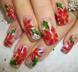 Christmas nails use different accessories for design