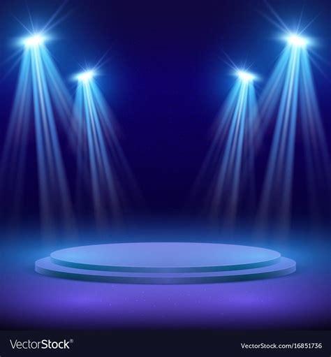 concert stage  spot light lighting show vector image