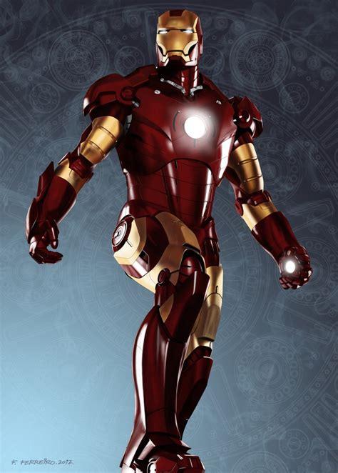 Portrait Iron Man 3d Illustrations Photoshop