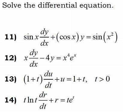 Dx Dy Differential Equation Solve Sin 4y