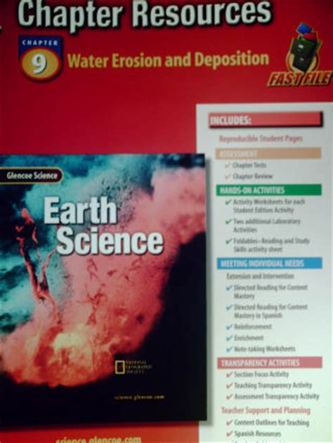 glencoe earth science chapter resources  water erosion