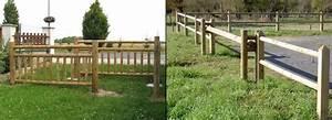 Barrière En Bois Jardin : barri re bois am nagement bois exterieur jean paul husson ~ Premium-room.com Idées de Décoration