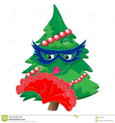 christmas tree illustration isolated character royalty