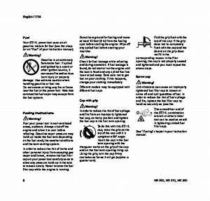 Stihl Ms 290 310 390 Chainsaw Owners Manual