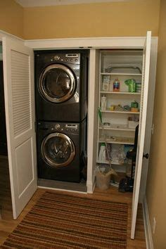 stackable washer dryer storage solutions laundry closet