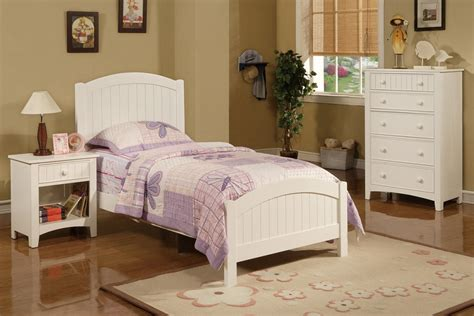Pc Bedroom Set Twin Size Cottage Style Pottery White Bed