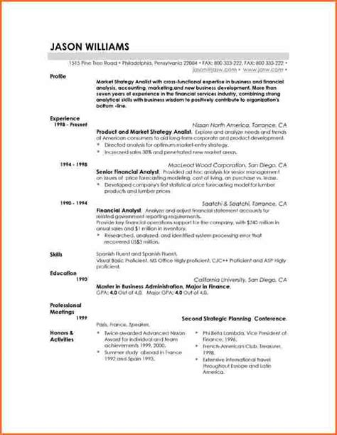 11 resume templates budget template letter