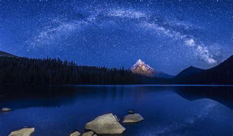 starry night   lake lost lake mt hood nf  flickr
