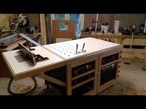 Fabriquer Un établi : etabli multifonction nouveaux plateaux youtube ~ Melissatoandfro.com Idées de Décoration