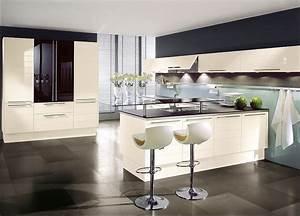Küche L Form Hochglanz : l form k che mit hochschr nken und esstheke in magnolie und hochglanz schwarz ~ Bigdaddyawards.com Haus und Dekorationen