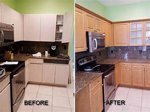 how to make estimates before after pictures of kitchen cabinet refacing call