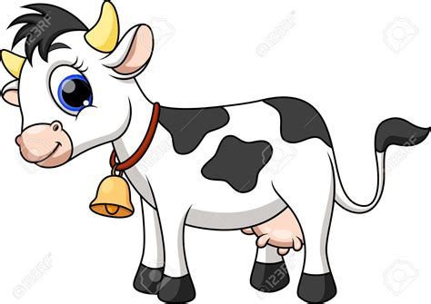 Cute Cow Cartoon Royalty Free Cliparts, Vectors, And Stock