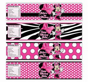 you choose minnie mouse water bottle labels pink and With free printable minnie mouse water bottle labels